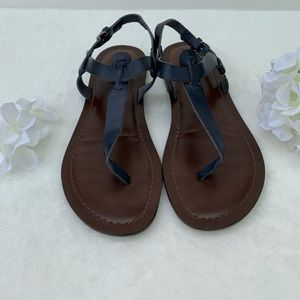 Matisse /Free People Florentine Navy Blue Sandals